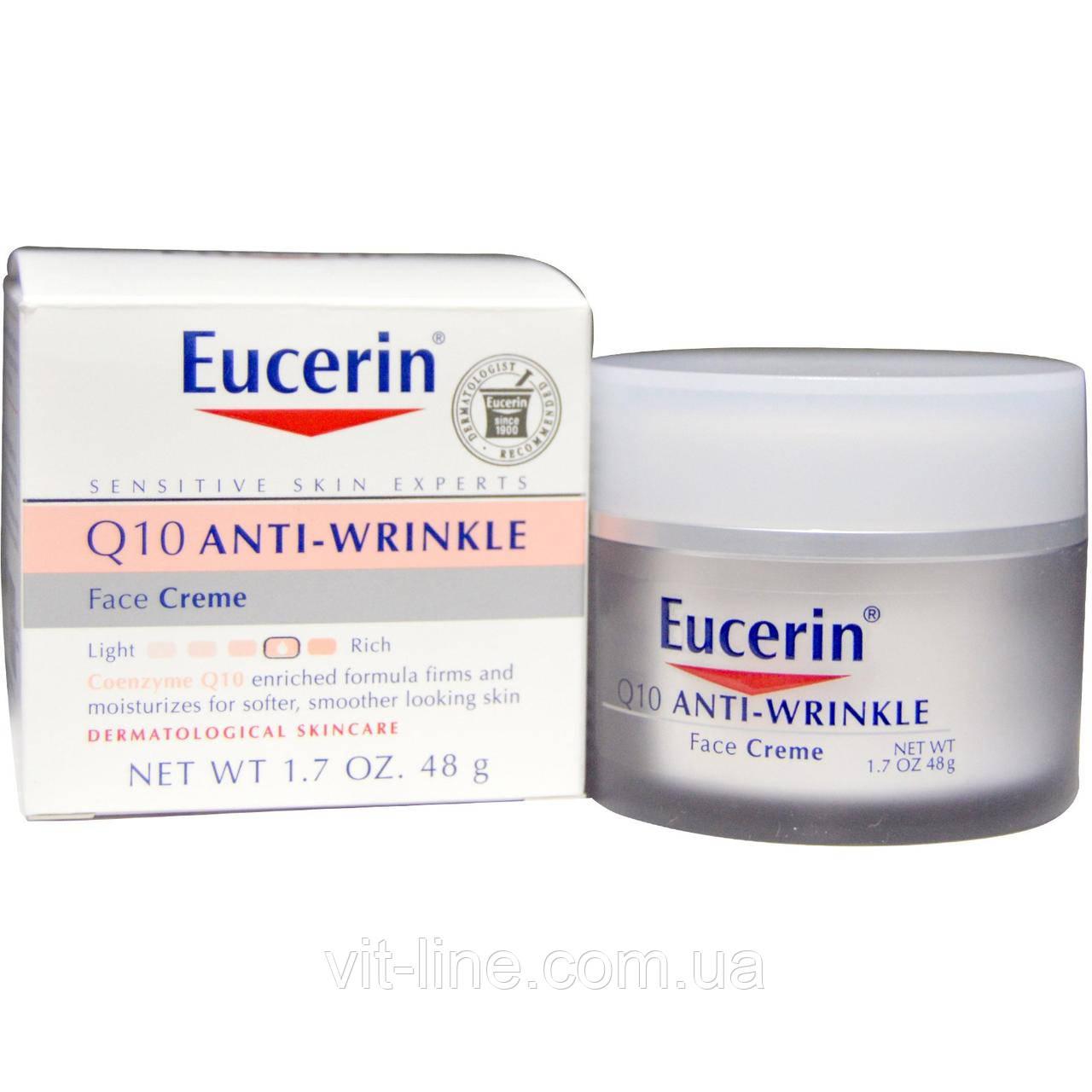 Eucerin, Крем для лица против морщин Q10, 48г