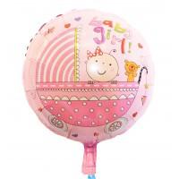 Фольгированный шар наполненный гелием  Baby Girl в коляске