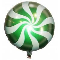 Фольгированный шар наполненный гелием Карамелька зелёная