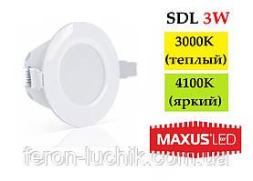Светодиодный LED светильник Maxus SDL 3W IP44
