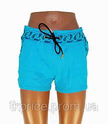 Трикотажные женские шорты голубые