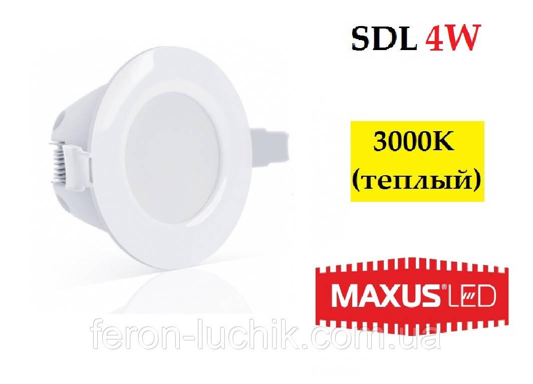 Світлодіодний світильник LED Maxus SDL 4W IP44