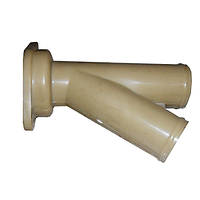 Трубка грядиля сошника на два семяпровода (тройник пластмас.) СЗМ-4 (Велес-Агро)