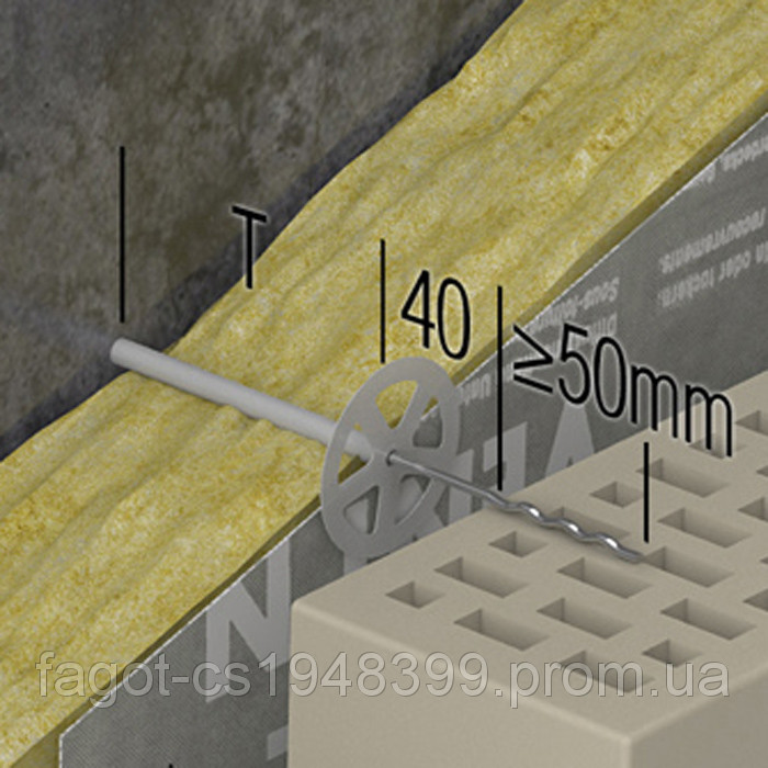 Гибкая связь-анкер PU Welle 4 mm