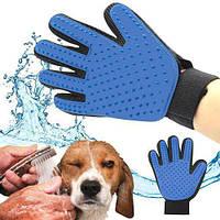 Перчатка для вычесывания шерсти Pet Brush