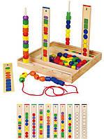 Деревянный развивающий набор для обучения viga toys Логика (56182)