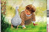 Схема для вышивания бисером - Ребенок