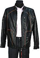 Куртка мужская черная. Демисезонная. Эко-кожа
