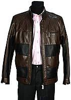 Куртка мужская коричневая. Демисезонная. Эко-кожа