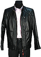 Куртка мужская демисезонная. Черная. Эко-кожа