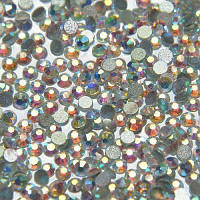 Стразы Swarovski crystal AB (Aurora Borealis), SS4 (100 шт) в баночке