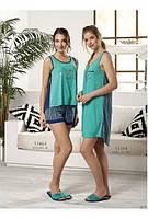 Платье домашнее /пляжное весна-лето с пуговицами Relax mode.