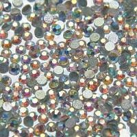 Стразы Swarovski crystal AB (Aurora Borealis), SS8 (100 шт) для педикюра в баночке