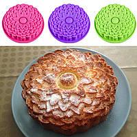 """Силиконовая форма для пирога """"Хризантема"""" 22,5 см 3,5 см"""