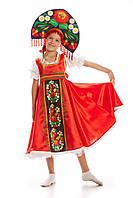 Русский национальный костюм Хохлома девочка, рост 115-140