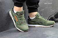 Кроссовки Reebok Сlassic темно зеленые 2423