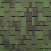 Битумная черепица ROOFCOLOR (Руфколор) Rondo Green Leaf