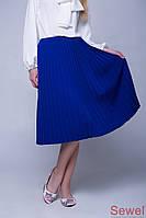 Модная вязаная юбка плиссе