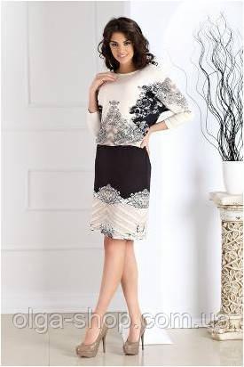 bacd4dc807e Платье женское Top Bis кремово-черное с узором