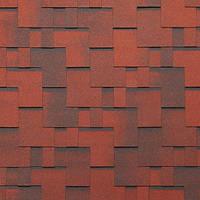 Битумная черепица ROOFCOLOR (Руфколор) Rondo Red Brick