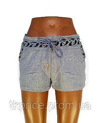 Трикотажные женские шорты серые