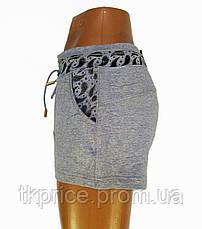 Трикотажные женские шорты серые, фото 2