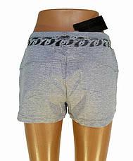 Трикотажные женские шорты серые, фото 3