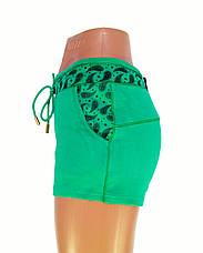Трикотажные женские шорты зеленые, фото 2