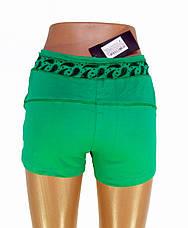 Трикотажные женские шорты зеленые, фото 3