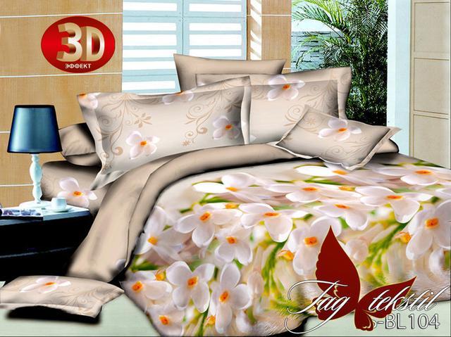 Двуспальное постельное белье полисатин