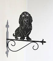 Настенная подставка для кашпо Собака С-10