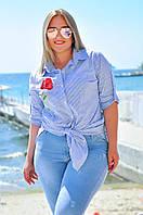 Блузка  туника батальная, фото 1