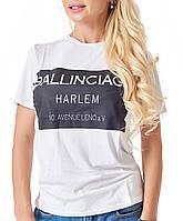 Женская черно-белая футболка (1105 br)