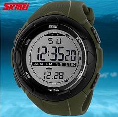 Часы мужские Skmei 1025 хаки