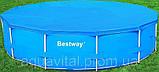 Каркасный круглый бассейн BestWay 56259 (366*122 см) с песочным фильтром, фото 4