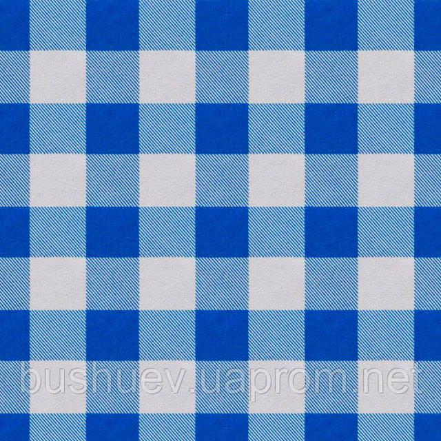 Ткань блузочная принтованная с клетчатым рисунком «Маркет» (P5789 дизайн 3)