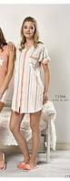 Рубашка-халат домашний /пляжный весна-лето на пуговицах Relax mode.