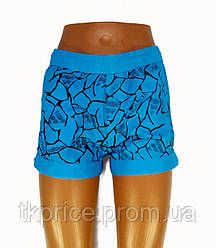 Женские шорты реплика Adidas голубые