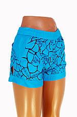 Женские шорты реплика Adidas голубые, фото 2