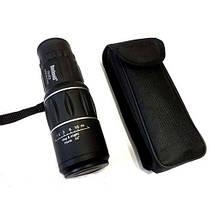 Монокуляр Bushnell 16x52 стекло, бинокль с двойнмы фокусом, защитный клапан линз + подарок, фото 3