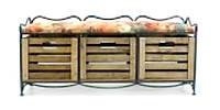 Кованый диван (этажерка) с тремя ящиками