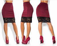 Женская яркая модная юбка миди с кружевом, разные размеры, разные цвета. Розница, опт в Украине.