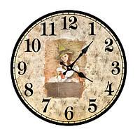 """Часы круглые настенные №227 """"Ведьмочка"""""""