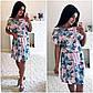 """Элегантное летнее женское платье в больших размерах 1145 """"Софт Принт Кармашки"""" в расцветках, фото 5"""