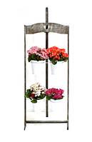 """Деревянная подставка под цветы """"Мольберт2/4 на 4 вазона"""""""