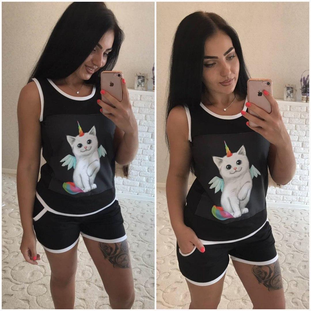 82daf155eaf5 Женский костюм шорты+ футболка от 42 по 48 размер: продажа, цена в ...