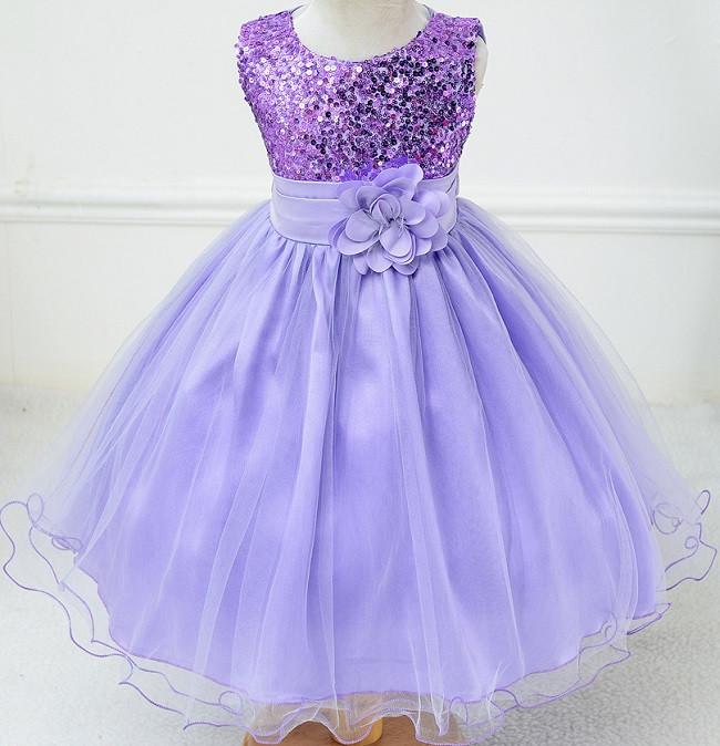 b4e51e165adf Нарядное платье с паетками нежно-сиреневое для девочки - Интернет-магазин