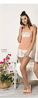 Пижама женская весна-лето майка+шорты вискоза, Relax mode.