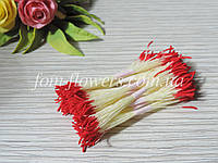 Тайские тычинки красные, удлиненные на лимонной нитке, фото 1