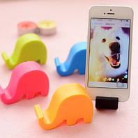 Подставка, фигурка Слона, настольный вариант - аксессуар для смартфона/планшета, материал пластик